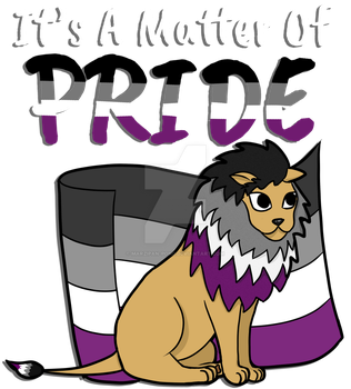 Asexual Pride Lion- With Text by marzipan-pond