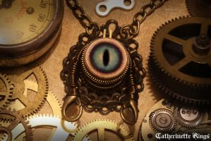 Steampunk Robot Pendant by CatherinetteRings