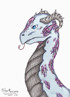 :Young Crystal Dragon: by SilverRacoon