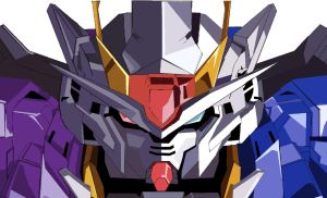 Gundam 00 Exia {good and evil} by kingfret