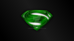 Man of Steel HOPE Symbol GREEN CHROME Wallpaper by Pegbeard