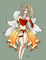 Terra in Onion Knight lingerie by roseannepage