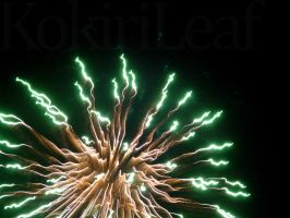Green Firework by Liefesa