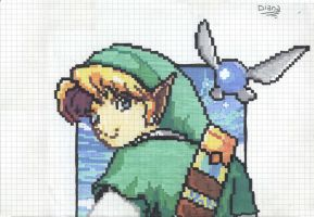 The  Legend of Zelda - Link-8bit by NaruMikuLink99