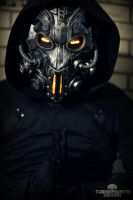 The Apparitionist light up cyberpunk mask by TwoHornsUnited