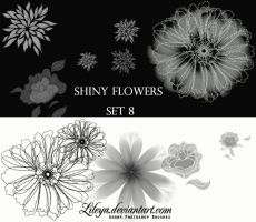 Shiny Flowers set 8 by Lileya