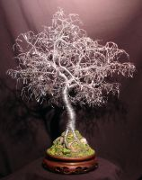 Bonsai With Hammered Leaves by SalVillano