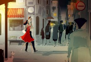 Strolling through the city. by PascalCampion