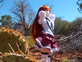 Red Hair, Red Skirt, Red Rocks by Poofiemus