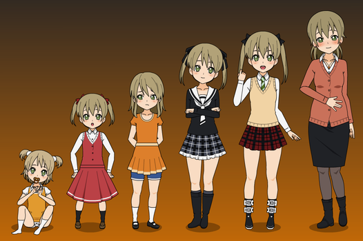 Maka Albarn's Age Progression by Kitty-McGeeky97