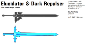 Elucidator and Dark Repulser by GrimReaper64