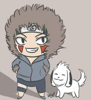 Naruto: Kiba and Akamaru by zightie
