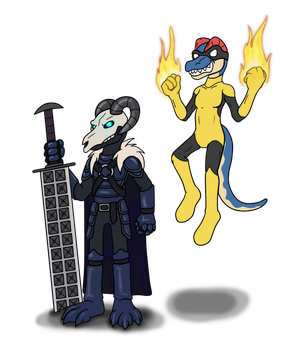 Commission - Oath Keeper and Warp Fire by hunterbahamut