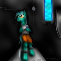 Lyra thinking with portals by MrSmiles14