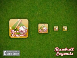 Baseball Legends iPhone app by pixelbudah