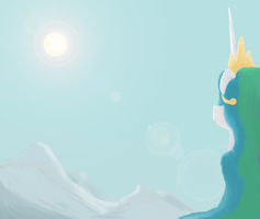 Princess Celestia by ponyscheme