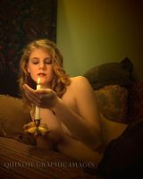 Katia with candle by Quixotegraphics