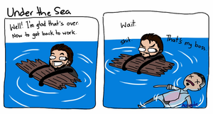 Deus Ex: Under the Sea by aurigale