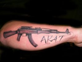 AK47 tattoo by hatefulss