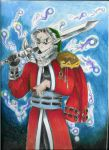 Lauron Auron and Link by DragonCid