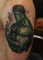 Ivan bor colour tattoo incredible hulk by HammersmithTattoo
