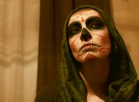 Santa Muerte Halloween Makeup by ryumo