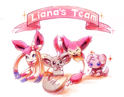 :commission: Liana's Team by kori7hatsumine