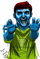 Blue Face Man by LineDetail
