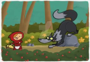 Little Red Riding Hood by tyrannus