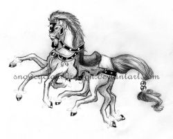Sleipnir Pencil Sketch by snowcyclonedragon