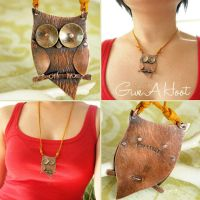 Owl Necklace by popnicute