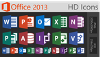 Office 2013 HD Icons - (LARGE) by dAKirby309