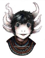 Max the Axolotl by sarahbeeillustration