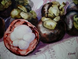 Mangosteens by p-e-a-k