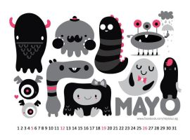 May monster calendar by mjdaluz