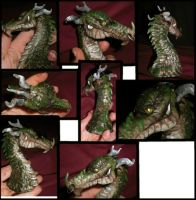 dragon sculpt bust by Anarchpeace