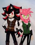 Shadow and Amy: Witch Hunters by GothNebula