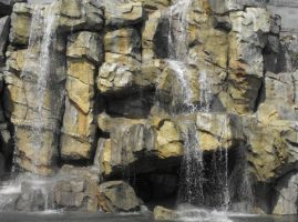 Stock: Man-Made Waterfall by Stock-By-Michelle
