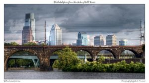 Philadelphia from the Schuylk by yellowcaseartist