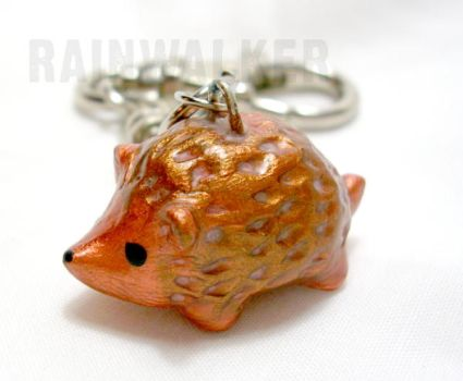 hedgie keychain by rainwalker-craft