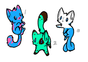 CHEAP Kitten Adoptables: CLOSED! by XxSilverWebAdoptsxX