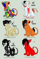 Halloween lion adopts(Open) by chubbyfox44