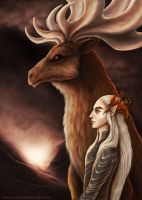 Thranduil and his Elk by francis-john
