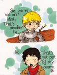 Merlin and Arthur: BROMANCE. by WhatItMeansToBeHuman