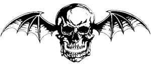 Avenged Sevenfold ~ Deathbat (Vector/PNG) B/W Logo by LightsInAugust
