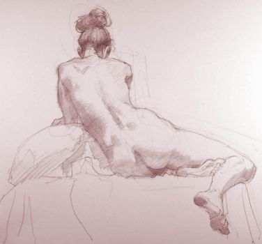 Figure Drawing by Bulz-i