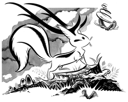 Ink drawing FOR SALE by Pocketowl