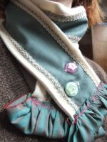 Buttoned Scarf by sewn-by-honeybirds
