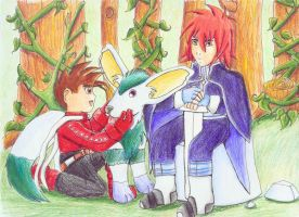 ToS- Lloyd and Kratos family by earthstar