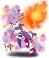 Blaze doodle - Fireball - colored by AR-ameth